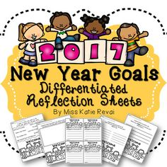 Start the new year off right with individual goal setting for your students! This product contains five differentiated worksheets for kiddos to reflect on their goals for 2017 by  drawing, writing, making lists, and/or selecting from a pre-made set of possible goals.