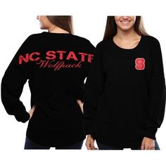 NC State Wolfpack Women's Pom Pom Jersey Long Sleeve Top – Red