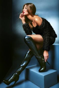 Image discovered by Silvana Fernandes. Find images and videos about girl, fashion and model on We Heart It - the app to get lost in what you love. Sexy Boots, Black Boots, High Boots, High Heels, We Heart It, Monster Energy Girls, Sexy Stiefel, Latex Babe, Beautiful Heels