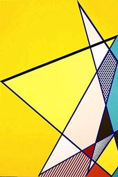 Roy Lichtenstein 1986 - IMPERFECT PAINTING 02 - Oil and magna on canvas (229 x 158 cm). Pop art #USA #Painting @deFharo