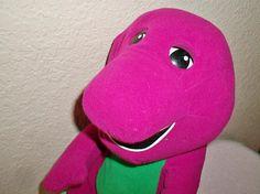 Barney Toy Stuffed Animal Purple Dinosaur Playskool Hasbro
