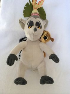 The Penguins of Madagascar King Julien Plush with Mort Nickelodeon RARE Penguin Animals, Penguins Of Madagascar, Dreamworks, Bowser, Plush, Teddy Bear, King, Baby, Fictional Characters