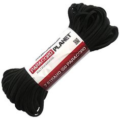 Paracord Planet 550 lb 100 Foot Hank Black Parachute Cord Also known as paracord rope parachute rope utility cord tactical cord and military cord USA made to provide durability and strength ** Click on the image for additional details.Note:It is affiliate link to Amazon.