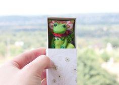 #Miniature #frog  #matchbox #art #toy #tiny