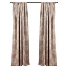 Add an elegant touch to your master suite or living room with this lovely blackout curtain, featuring a medallion print for visual appeal.  ...