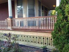 vintage flat sawn porch balusters Porch Balusters, Craftsman Style Porch, Deck Skirting, Victorian Homes, Outdoor Structures, Outdoor Decor, Vintage, Google Search, Porches