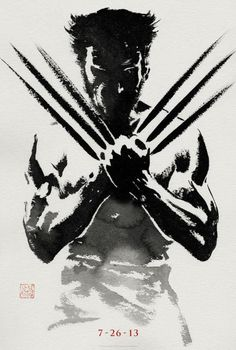 Strong culture of Japan looks from the latest poster shows Wolverine in the brush strokes of Japanese calligraphy.