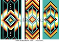 Beading patterns for quilt inspirations.