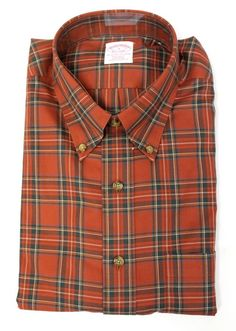 Brooks Brothers - Red Plaid Button Down Long Sleeve Shirt