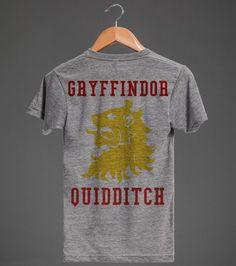 Gryffindor Quidditch | Athletic T-shirt | Back