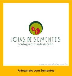 Identidade Visual para empresa que fabrica jóias com sementes da Amazônia.