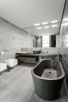 Salles de bains sombres sur pinterest salle de bains for Plante pour salle de bain sombre