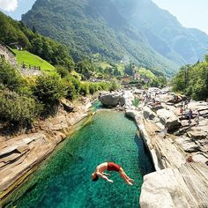 The best swimming pools are made of rock... Lavertezzo, Switzerland. Photo by: @chrisburkard Explore. Share. Inspire: #earthfocus #earthporn #instafollow #amazingearth #pretty #beauty