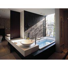 露天風呂のようなバスルーム : 【夢のマイホーム】お洒落なお風呂のアイディア実例集【どんなお風呂にする?】 - NAVER まとめ