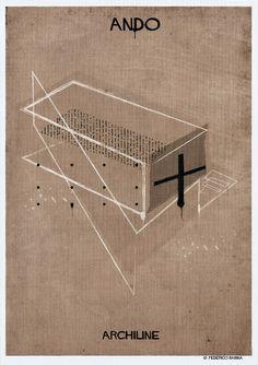 """Imagem 13 de 18 da galeria de ARCHILINE: Algumas das maiores obras da arquitetura em """"poucas linhas"""". Fotografia de Federico Babina"""