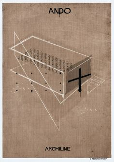 Gallery - Federico Babina's ARCHILINE Paints the Essence of Architecture's Greatest Works - 13
