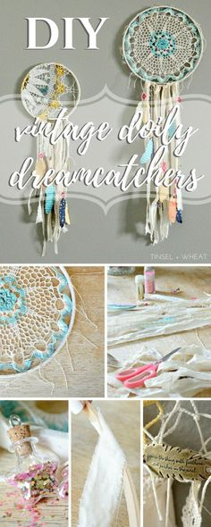 Vintage Doily Dreamcatchers! I love finding creative ways to repurpose vintage and antique things.