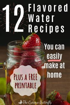 Make it super easy and tasty to stay hydrated and drink enough throughout the day with these 12 quick and easy flavored water recipes. Get the FREE recipe printable now, prepare your favorite healthy flavored water recipe and sip away! Easy Recipe To Make At Home, Food To Make, Yummy Drinks, Healthy Drinks, Flavored Water Recipes, Drink Recipes, Vegan Recipes Easy, Simple Recipes, Vegan Meals