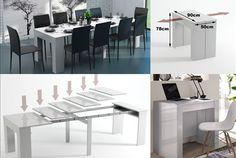 Organize os seus jantares sem receio do espaço! Tão prática como elegante, Mesa de refeições extensível 2 em 1 por apenas 199€ em vez de 400€. - Descontos Lifecooler