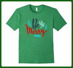 Mens Be Merry Christmas Shirt Holiday Xmas Teacher Mom Kids 3XL Grass - Careers professions shirts (*Amazon Partner-Link)