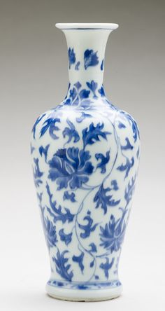 Baluster vase, China, 1680. Porcelain painted in underglaze blue, 22.2 x 8.5 cm. RCIN 1056. Royal Collection © Her Majesty Queen Elizabeth II
