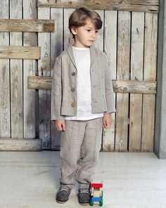 Boys Suit Sets, Boys Suits, Toddler Fashion, Kids Fashion, Boys Linen Suit, Toddler Suits, Kids Dress Wear, Handmade Baby Clothes, Linen Jackets
