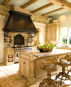 Modern French Country, French Country Kitchens, French Country Living Room, French Country Farmhouse, French Cottage, French Country Decorating, French Style Chairs, Country Kitchen Designs, Country Dining Rooms