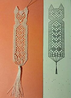 Marcapaginas de Rosa Torres Smocking Patterns, Bobbin Lace Patterns, Tassel Necklace, Crochet Necklace, Belle Costume, Bobbin Lacemaking, Craft Markets, Needle Lace, Lace Making
