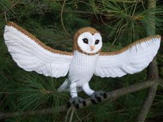 Crochet Barn Owl Pattern PDF by GreatGreyCrochet on Etsy  THIS IS great work!!!