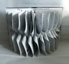Book Art Sculpture Grey by abadova on Etsy, $49.00