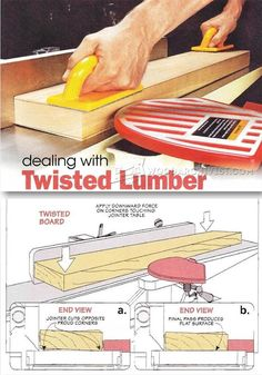 Squaring Twisted Lumber - Woodworking Tips and Techniques | WoodArchivist.com
