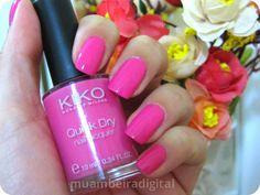 """Kiko Quick Dry Nail Polish in 842 """"Rosa Profondo""""."""