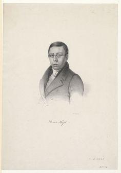 Portret van David van Heyst (1802-1836), predikant te Muiderberg, Hazerswoude, Gouda (en Leiden) - Geheugen van Nederland Gouda, Leiden, David