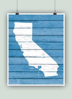 California art California State printCalifornia by PrintCorner