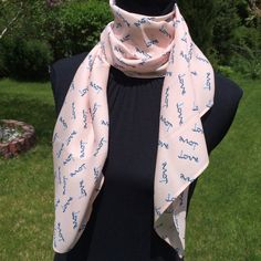 Light Pink Love Scarf silk scarf loop scarf circle by SissyandTodo