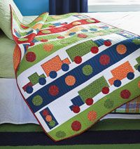 City Streets by Jamie Wood, is a kids quilt your little trucker will love. Easy to make quilt in fun colrs and shapes!