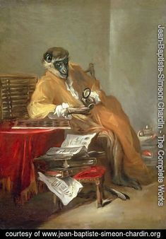 Learn more about The Monkey Antiquarian Jean-Baptiste-Simeon Chardin - oil artwork, painted by one of the most celebrated masters in the history of art. Most Famous Paintings, Your Paintings, Painting Frames, Painting & Drawing, Oil Painting Reproductions, Art Challenge, Find Art, Framed Artwork, Art Museum