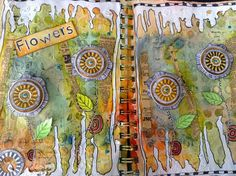 CartherineCreations: { Art journal - Flowers }