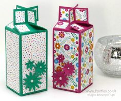 Stampin' Up! Demonstrator Pootles - Twist Close Cross Top Box with Festive Birthday Paper