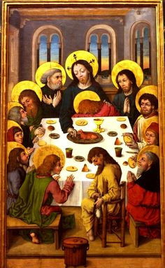Nineteen sumptuous paintings of the Last Supper of Jesus and his disciples, with a key to hidden meanings, and Bible text for this ancient story Isabella Of Castile, Jesus Stories, Medieval Life, Renaissance Paintings, Last Supper, Catholic Saints, Corpus Christi, Bible Art, Christian Art