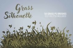 Silhouette Photoshop, Grass Silhouette, Photoshop Brushes, Newsletter Templates, Text Effects, Journal Cards, Book Publishing, School Design, Presentation Templates
