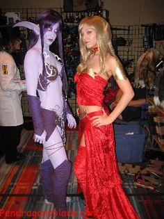 elf costume makeup | whoa! awesome hott night elf costumes!