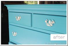 How to Paint An Old Wood Chest of Drawers - In My Own Style