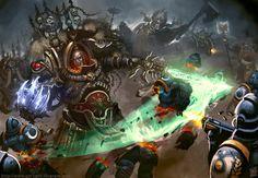 The Despoiler Unleashed (Color version) by Vanagandr Warhammer 40k Art, Warhammer Fantasy, Warhammer Models, Space Marine, Sons Of Horus, Space Wolves, Game Workshop, Marvel, The Grim