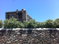 Stone fence in Tinos.
