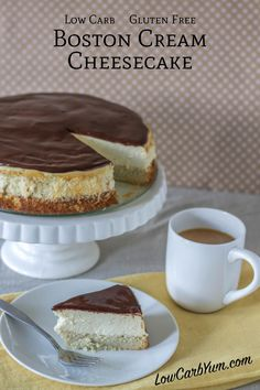 Boston Cream Cheesecake | Low Carb Yum