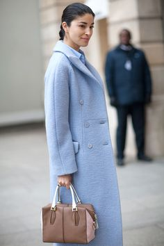 Coat with total vintage vibe!  Caroline Issa in Carven.