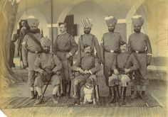 Photo Of INDIAN ARMY Regiment - British & Indian Soldiers, c1890s