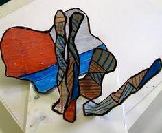 Dubuffet cardboard sculptures