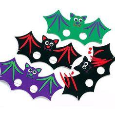 Halloween Foam Bat Mask Kits - (Pack of 6)